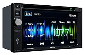 Jensen VX4022 6.2 inch LCD Multimedia Touch Screen Double Din Car Stereo with Built-In Bluetooth, CD/DVD Player & USB Port