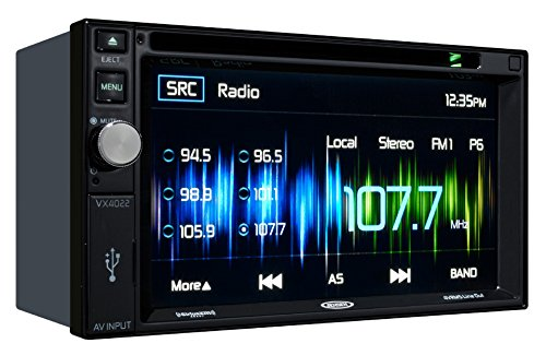 Lincoln Multi Car Radio (Jensen VX4022 6.2 inch LCD Multimedia Touch Screen Double Din Car Stereo Receiver with Built-In Bluetooth, CD/DVD Player & USB Port)