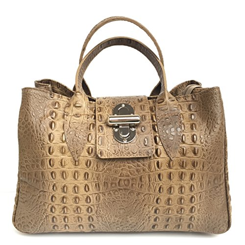Womens Tote Leather Brown L Superflybags Bag U7An6nq