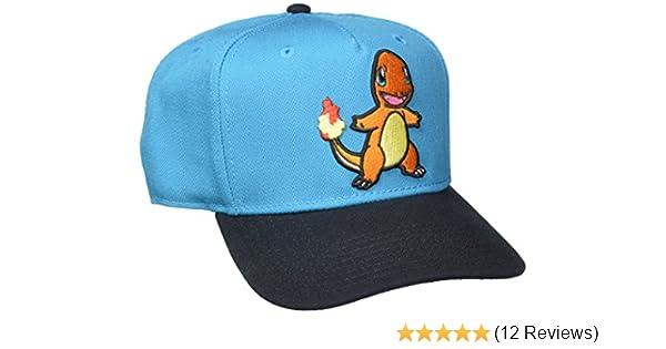 f136cc2ef5e Amazon.com  bioWorld Pokemon Charmander Embroidered Snapback Cap Hat ...