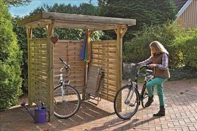 Unbekannt Mulltonnen Box Holzunterstand Mulltonnenhauschen Bikeport