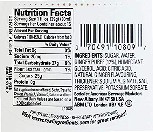 Banana Reàl, Ginger Puree Infused Syrup, 16.9 FL OZ Squeezable Bottle | Pack of 12 by Reàl (Image #1)