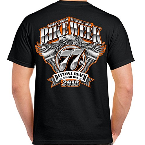 Biker Life USA 2018 Bike Week Daytona Beach Official Pocket T-Shirt Daytona Pocket Bike