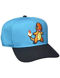 BIOWORLD Pokemon Charmander Embroidered Blue Snapback Cap Hat