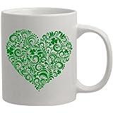 Personalized Irish Lucky Heart St. Patrick's Day Coffee Mug Gift Irish Gifts