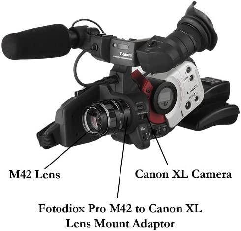 XL-1 Fotodiox Pro Lens Mount Adapter Compatible with M42 Lens to ...
