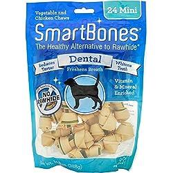 SmartBones Dental Dog Chew, Mini, 24 pieces/pack