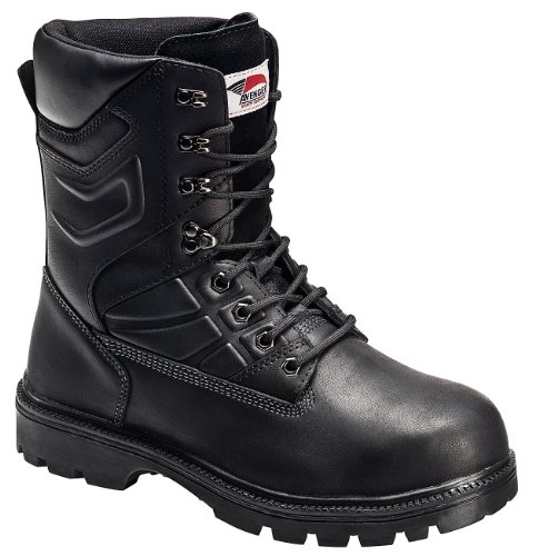 Avenger Boots: Men's 8 Inch Black Steel Toe Met Guard Boot A7310-11W