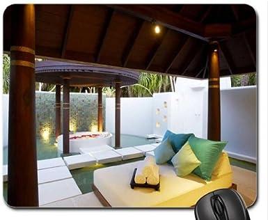Diseño de casetas de playa Spa Maldivas Anantarra Kihavah alfombrilla para ratón, Mousepad (playas alfombrilla para ratón): Amazon.es: Electrónica