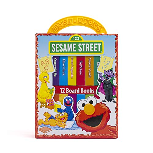 Sesame Street - My First Library Board Book Block 12-Book Set - PI Kids