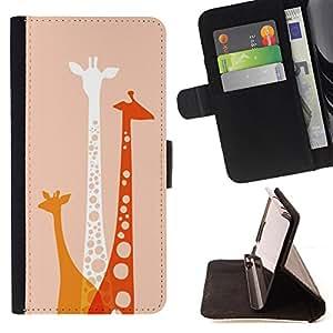 - Giraffe Cute Cartoon/ Personalizada del estilo del dise???¡Ào de la PU Caso de encargo del cuero del tir????n del soporte d - Cao - For Sony Xperia Z3 D6603