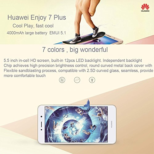 Huawei Enjoy 7 Plus TRT-AL00A 4GB+64GB 5.5 inch EMUI 5.1 (Android 7.0) Qualcomm Snapdragon435 MSM8940 Octa Core up to 1.4GHz WCDMA & GSM & FDD-LTE (Black)