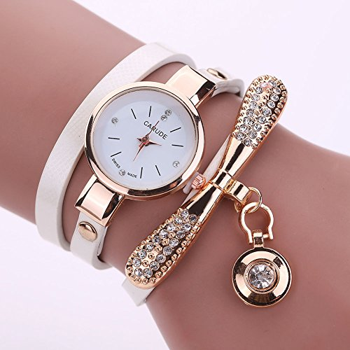 New Women\'s Fashion Ladies Faux Leather Rhinestone Analog Quartz Wrist Watches, 100% brand new and high quality.Dial Material Type Stainless Steel(White) (Omega Watch On Sale compare prices)