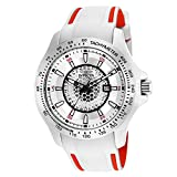 invicta white dial men - Invicta 25343 Men's Speedway Silver Dial White & Red Polyurethane Strap Quartz Watch