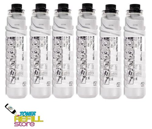 Toner Refill Store TM 6 Pack Remanufactured Copier Toner Cartridge for The Ricoh Type 1170D 888260