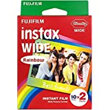 1 Pack Rainbow FujiFilm Instax Wide Picture Format Fuji Instant Film Polaroid Photo (20 Shots) by DJS Commerce