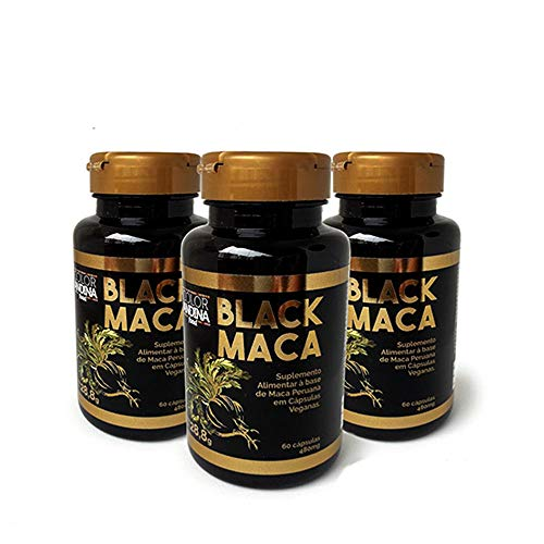 Maca Peruana Black (Preta) Maca, Color Andina Food, Veg, 180 caps
