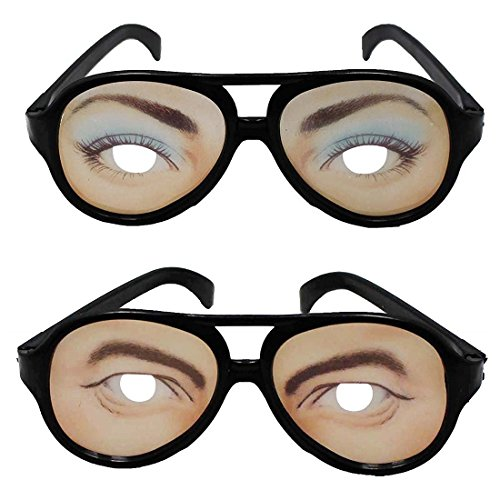 SGS Funny Eyes Disguise Glasses Male And Female (2 Piece)