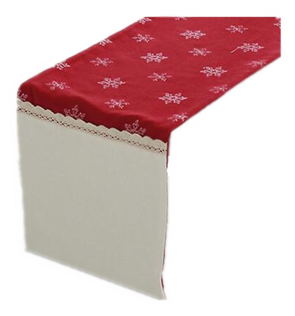 PLYY PLYY PLYY Camino de Mesa Bordado de Copo de Nieve de Corredor de Tabla del Poliester de la tapicería Mesa para la decoración de la casa de la Novia Varios tamaños Rojo, 35  200cm  ahorra hasta un 80%