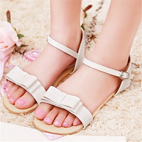 Fashion Bowtie Westbrook Ankle Women Flats Sandals Robert Straps Open Light Summer Sweet Platform Shoes Sandals Toe White qSIYgxAw4W