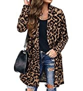 LAISHEN Women's Open Front Cardigan Sweater Long Sleeve Lightweight Casual Outwear with Pockets