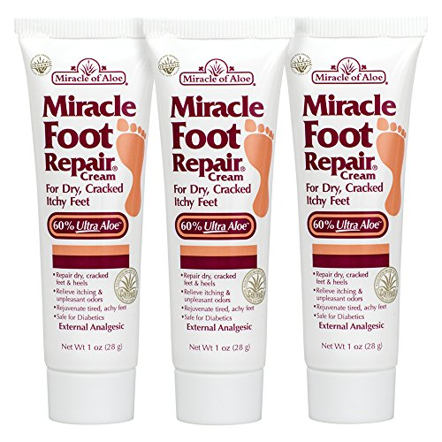 3-Pack Miracle Foot Repair Cream 1 ounce tube with 60% UltraAloe