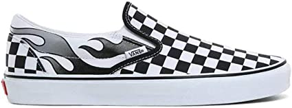 Vans Classic Slip On Checkerboard Flame Black True White