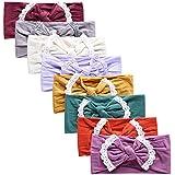 Nylon Newborn Headbands Baby Girl Bow Headband Infant Bows Head Cap Hair Band (Multicolor-ZM01)