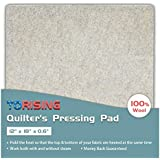 """Quilter's Pressing Pad Mat- 12""""x18""""x0.6"""" 100% Wool for Professional Ironing