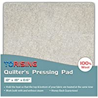Quilters Pressing Pad Mat- 12x18 100% Wool for Professional Ironing| Portable Quilting Heat Press Pad for Traveling, Camping, College| Top Craft, Sewing, Embroidery Iron Pad