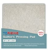Torising Quilter's Pressing Pad Mat- 100% Wool 12''x18'' for Professional Ironing| Portable Quilting Heat Press Pad for Traveling, Camping, College| Top Craft, Sewing, Embroidery Iron Pad
