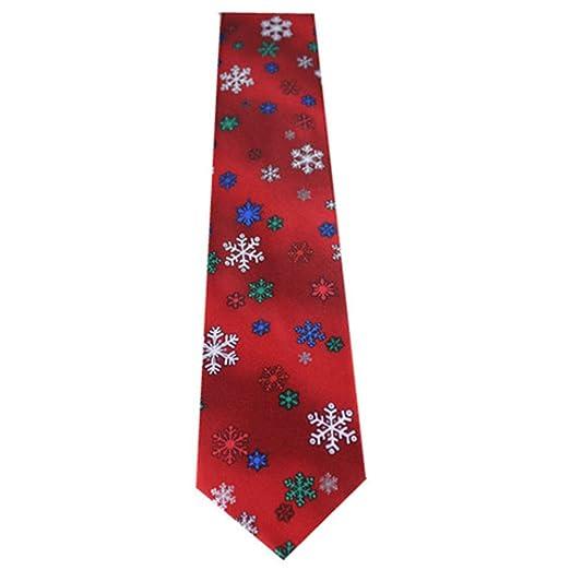 Namgiy - Corbata de Novio para Hombre, diseño navideño (148 x 8,3 ...