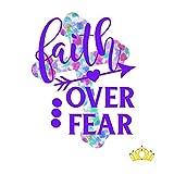 Faith Over Fear Vinyl Decal for Tumbler, Laptop, or Car, Bible Verse Christian Decal