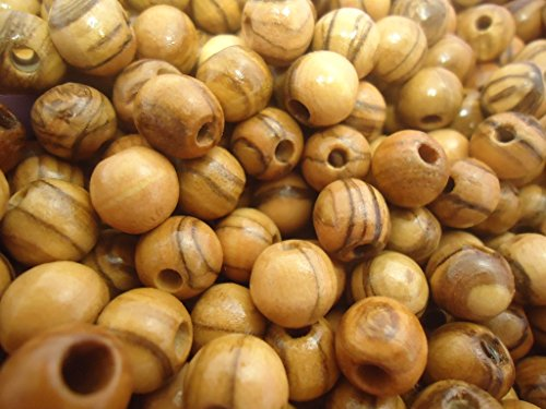 7mm Wood Round Beads - Holyland Natural Olivewood round beads 7mm ROSARY beads NAZARETH ( 60 Beads )