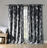 kensie ASQCC=12/3885 Aster Cotton Grommet Pair Panel/Charcoal,54x84 (2pcs)
