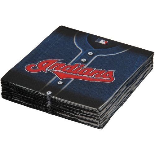 Licensed MLB Cleveland Indians Party Luncheon Party Napkins Tableware, 36 Pieces, Made from Paper by Amscan by Amscan