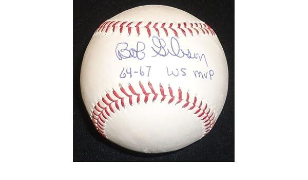 Bob Gibson 64//67 WS MVP Autographed Baseball