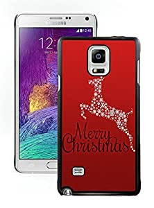 Diy Design Christmas Animals Black Samsung Galaxy Note 4 Case 3