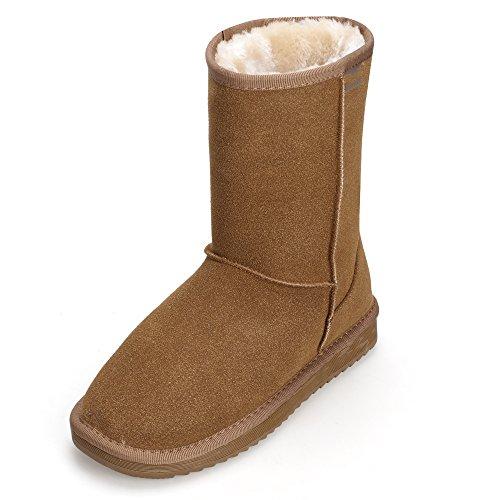 Zapatos para Invierno Aimado para la con Nieve Marr Botas Mujer Botas Calientes Nieve Suela Rain Piel Invierno de Antideslizante dCxxHq