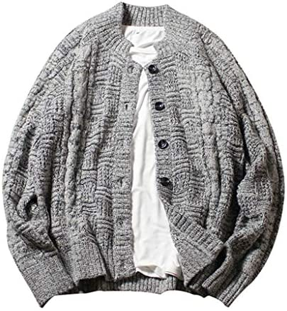 ニットカーディガン メンズ 秋冬 大きいサイズ コート セーター 長袖 防風 防寒 暖かい ゆったり カジュアル シンプル かっこいい 通勤 通学 お出かけ ボタン付き 無地 全3色 Mー5XL