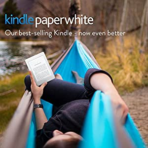 "Kindle Paperwhite E-reader, 6"" High-Resolution Display (300 ppi) with Built-in Light,  Wi-Fi (White)"