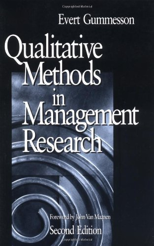 GUMMESSON: QUALITATIVE METHODS (P 2/ED) IN MANAGEMENT RE-SEARCH by Evert Gummersson (1999-11-10)