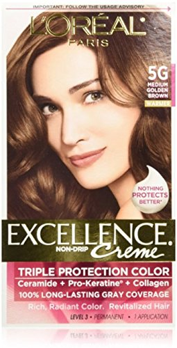 L'Oreal Excellence #5G Medium Gold Brown Hair Color, 1 ct -  71249210574