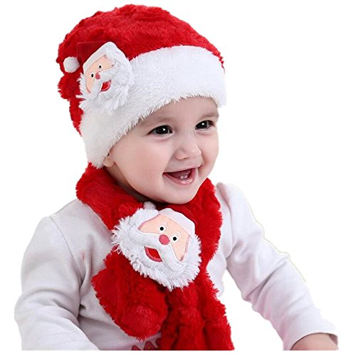 Child Christmas Traditional Cap Santa Claus Christmas Snowman Christmas Deer Hats For Kids (red) (Fancy Snowman)