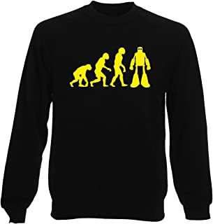 T-Shirtshock Felpa Girocollo Uomo Nera OLDENG00643 Sheldon Robot Evolution