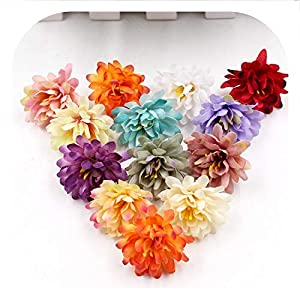 Memoirs- 20Pcs/Lot Gradient Carnation Artificial Flowers for Wedding Home Decoration DIY Craft Wreath Scrapbooking Gift Fake Flower Heads 59