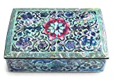 MADDesign Jewelry Trinket Box Mother of Pearl Inlay Lacquered Flower Pink