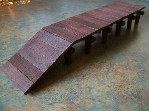 Model Railroad O Gauge Wooden Freight Platform (Railroad O Gauge)