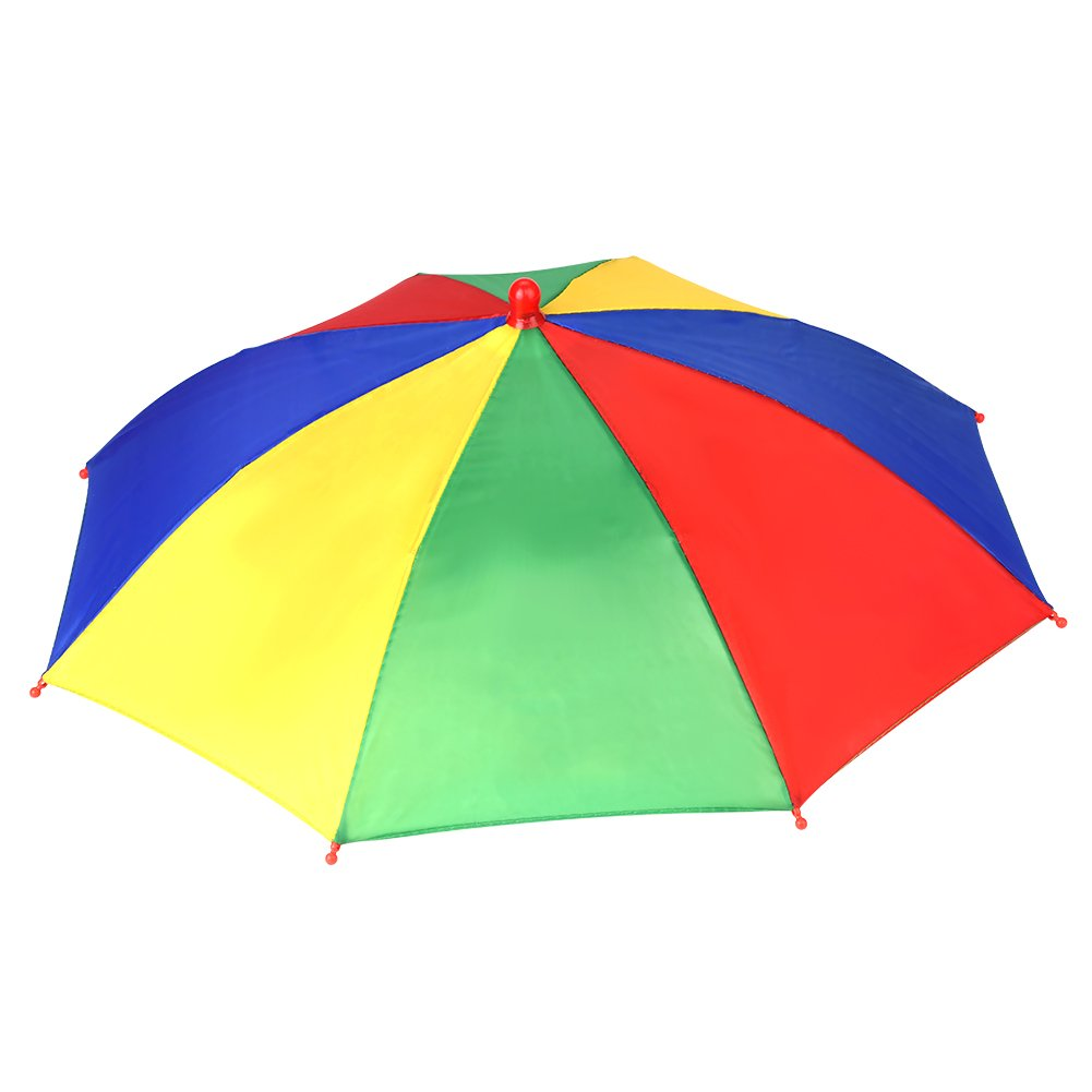 Chapeau de Parapluie dArc-en-Ciel Casquette Parasol Anti-UV Multicolore pour P/êche Randonn/ée Plage P/édestre Excursion Ext/érieur