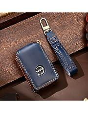 ontto Etui na kluczyki samochodowe pasuje do Volvo XC40 XC90 XC70 S60 S80 S90 C30 V70 V90 T5 T6 2019 2020 etui na pilot zdalnego sterowania, skóra, etui na klucze, klucze, etui, 4 przyciski